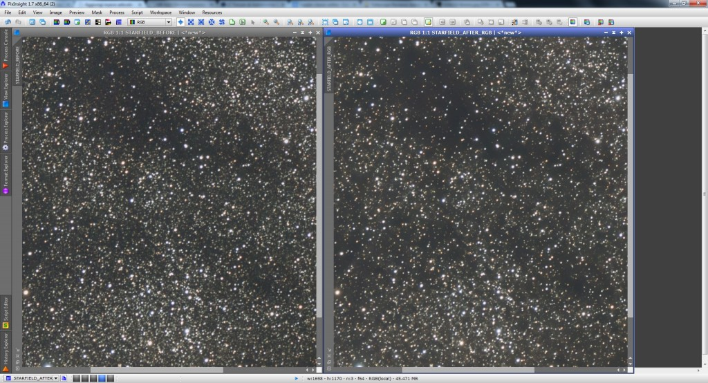 M8M20 Background Comparison